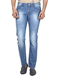 FEVER Men Solid Jeans, Light Blue - B01BNDH2B2