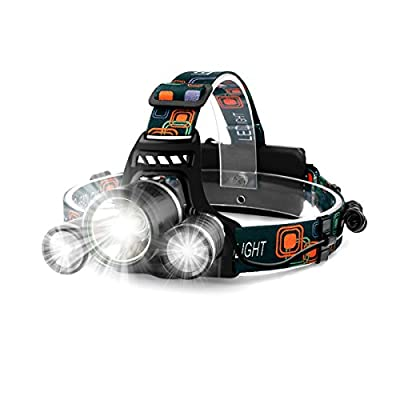 PluStore LED High Light Headlamps Rechargeable Waterproof Headlight