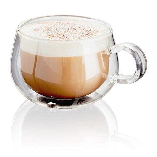 Horwood JDG35 - 2 tazze da cappuccino in vetro, 250 ml