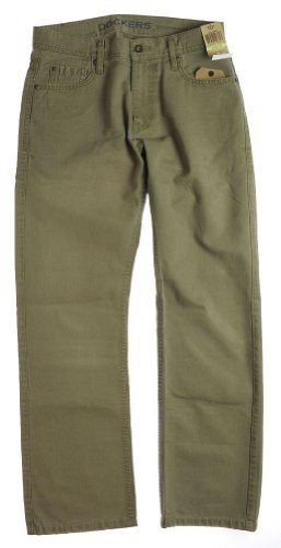 Dockers Mens 5 Pocket Straight Fi Classic Straight Leg Jeans -