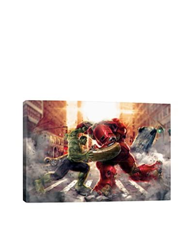 Hulk & Hulkbuster: Face to Face Movie Poster Gallery-Wrapped Canvas Print