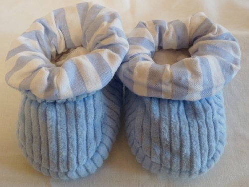 Soft Touch Baby Bootees Blue