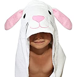 Plovf Rabbit Baby Towel - Premium Soft and Absorbent Cotton Hooded Towel for Girls and Boys