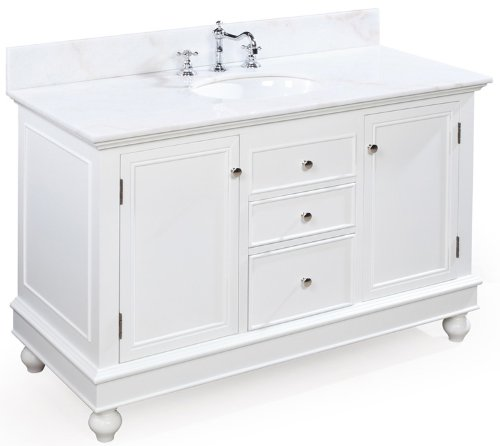 Cheap Buy Bella 48 Inch Bathroom Vanity White White Includes Cabinet With Marble Countertop