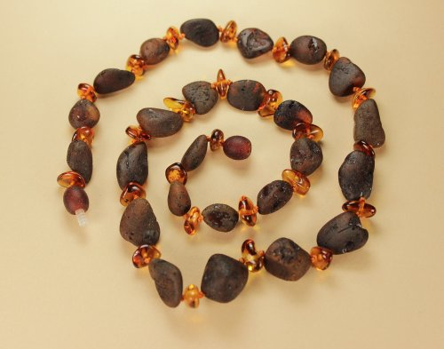 Raw Bean Baltic Amber Necklace 20''