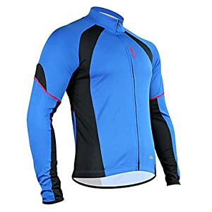 NEW-Santic Polyester+Mesh Long Sleeve Breathable+Quick-Drying Cycling Jacket for Men... by ELCE Stock