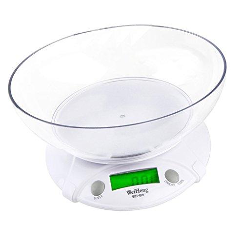 Weiheng WH-B09L Balance de Cuisine 3kg Maximum Précision 0.5g rétroéclairage - avec un bol