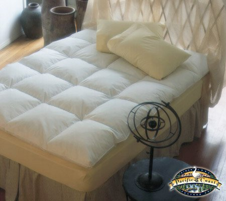 Luxury Baffled Box Featherbed - Mattress Topper, Feather Mattress Topper, Fea...
