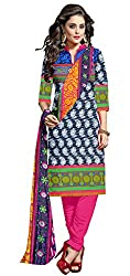 Ethnic For You Crepe Unstitched Salwar Suit Dress Materials(MULTI,RANI)