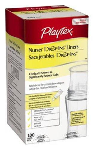 Playtex Drop-Ins pre-esterilizados Liners biberón blando, de 8-10 oz. 100 ea
