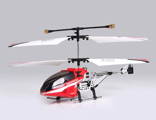 JDR 3-Channel Alloy Infrared RC Helicopter with Gyroscope and Light (Red)