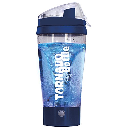 Tornado Bottle Electric Mixer, Tumbler, Protein Shaker, Water Bottle for Kitchen Sports Outdoor (16 oz, blue) (Bottle Tornado compare prices)