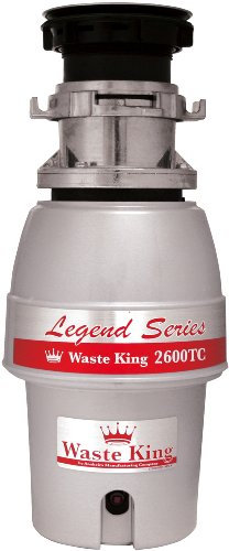 Waste King L-2600TC Legend Series 1/2HP Batch Feed Operation Waste Disposer