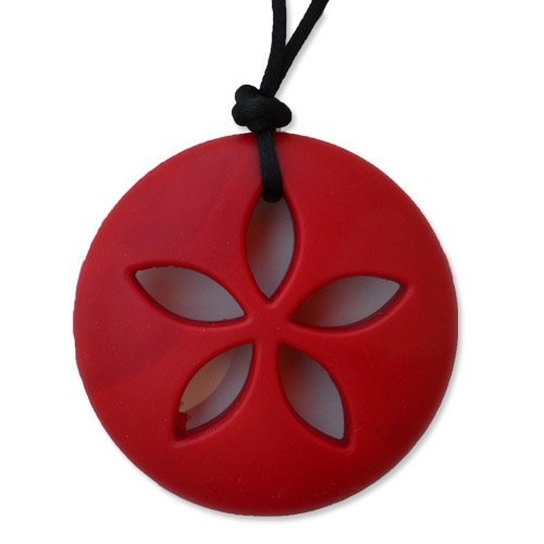 Sand Dollar Teething Necklace by Zen Rocks - a Stylish New Twist to Teething - Ruby - 1