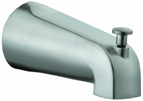 Design House 522920 Tub Diverter Spout Slip-On, Satin Nickel Finish