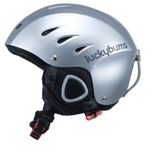 Lucky Bums Snow Sport Helmet, Silver, Large