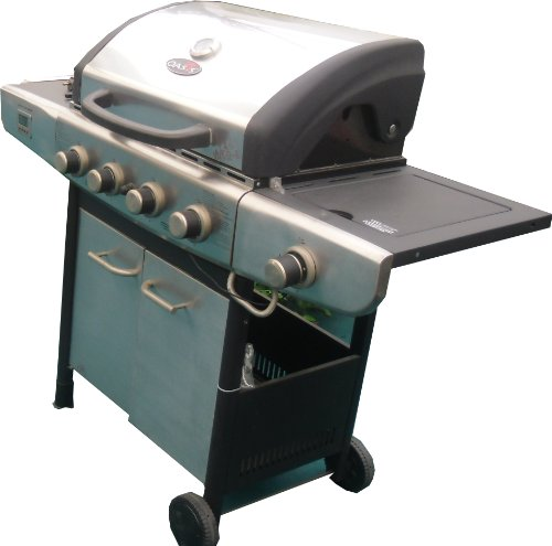 Deluxe 4 Burner Plus 1 Side Burner Gas BBQ Barbecue Stainless Steel