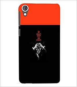 PrintDhaba Quote D-5745 Back Case Cover for HTC DESIRE 820 (Multi-Coloured)