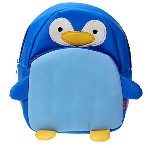 Children Kids Kindergarten Backpack Shoulders School Bag Cute Penguin Shape front-363182