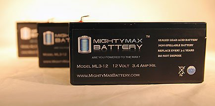 Ml3-12 12V 3.5Ah Sla Replaces Bp3-12 Bp3.6-12 Cf12V2.6 Cfm12V3 Cp1232 - 3 Pack