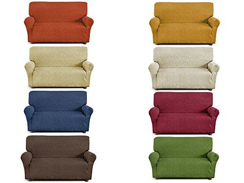 Copridivano 2 posti in tessuto elastico da 110cm a 150cm made in italy colore da scegliere - Copridivano amazon ...