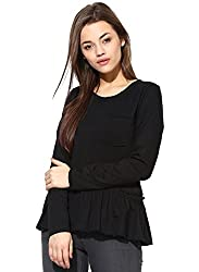 ESPRESSO WOMEN'S BABY DOLL TOP-BLACK