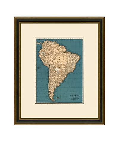 Antique Map of South America, 1937