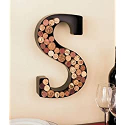 Monogram Wine Cork Holder - Letter S