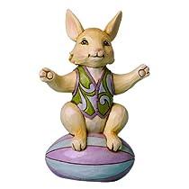 Enesco Jim Shore Heartwood Creek Mini Bunny on Easter Egg Figurine 4-Inch