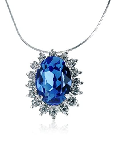 Crystal from Swarovski Collar Cobalto / Plateado