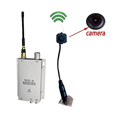 Podofo® Wireless Security Camera with Receiver Spy Pinhole Micro Cam Complete Surveillance System CCTV Camera