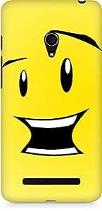 Amez designer printed 3d premium high quality back case cover for Asus Zenfone 5 (Cute Cartoon Smile.JPG)