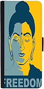 Snoogg Buddha Freedom Designer Protective Flip Case Cover For Samsung Galaxy ...