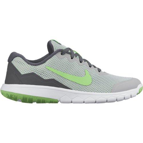 Boys' Nike Flex Experience 4 (GS) Running Shoe WOLF GREY/VLTG GRN-LCD GRN-WHT