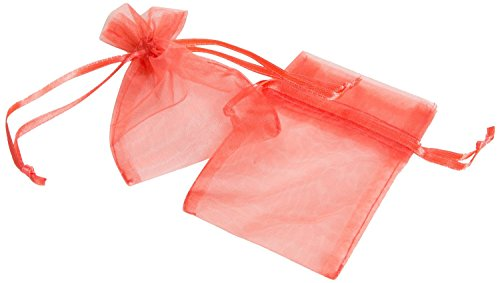"Coral 3"" X 4"" Organza Favor Bags 24 Pieces-Pack front-997335"