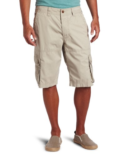 French Connection Men's Peach Pie Twill Cargo Shorts