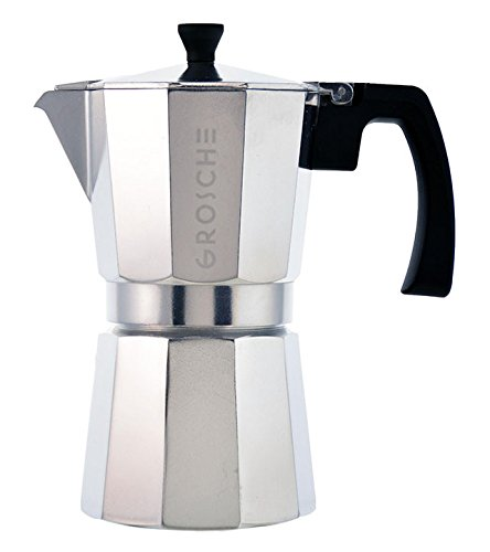 Stovetop Coffee Maker Handle : GROSCHE Milano Moka Stovetop Espresso Coffee Maker with Italian Safety Valve and Protection ...
