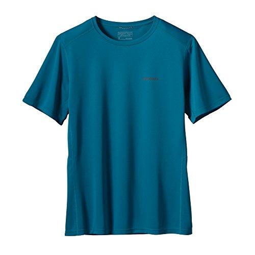 Patagonia Uomo a maniche corte Forerunner, Uomo, Kurzarm Shirt Fore Runner, Underwater Blue, XL