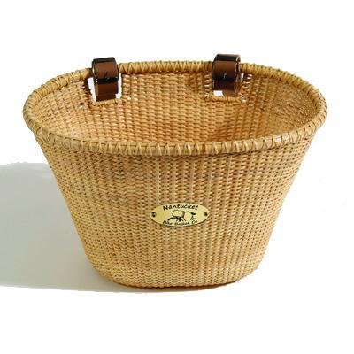 Nantucket Lightship Oval Front Handlebar Bike Basket (Natural)