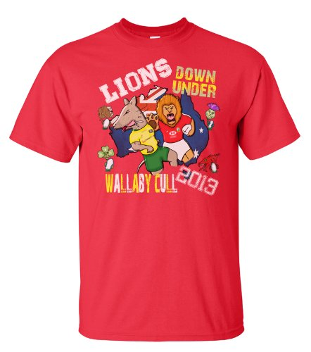 British Lions rugby T-Shirt Wallaby cull Australia tour 2013