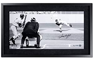 "Los Angeles Dodgers Sandy Koufax Autographed ""1965 World Series"" 24 x 12 Panoramic Photo, Framed (UDA)"