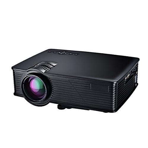 Mpow Projecteur LCD Mini Théâtre Domestique Multimédia Portable Avec USB SD HDMI VGA pour Cinéma d'Arrière-cour, de Film et de Jeu vidéo
