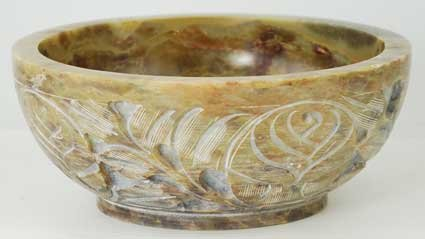 New Age NEW Soapstone Scrying and Smudge Bowl