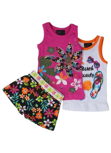 Alfa Global Girls Flower Print 3Pc Set 24M front-307105
