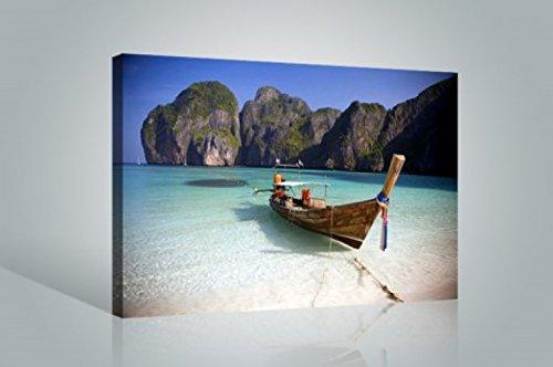 1art1 57249 Strände – Maya Bay, Koh Phi Phi Ley, Thailand Poster Leinwandbild Auf Keilrahmen 120 x 80 cm