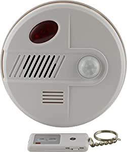 GE 45412 Motion Sensing Alarm with 2 Remote (White)