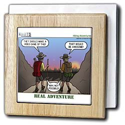 Knots Hiking Adventure - Real Adventure - 6 Inch Tile Napkin Holder