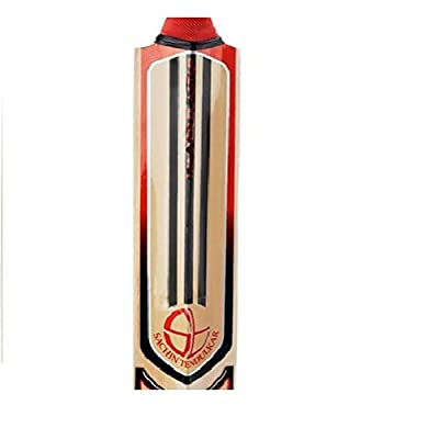 adidas Master Blaster Rookie Kashmir Willow Cricket Bat, Short Handle (Poppy/Black/Silver)