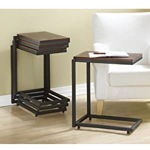 Stacking end table end tables for C tables for living room
