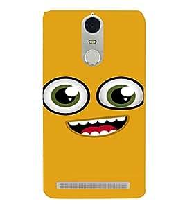 PrintVisa Cute Cartoon Happy Smiley 3D Hard Polycarbonate Designer Back Case Cover for Lenovo K5 Note